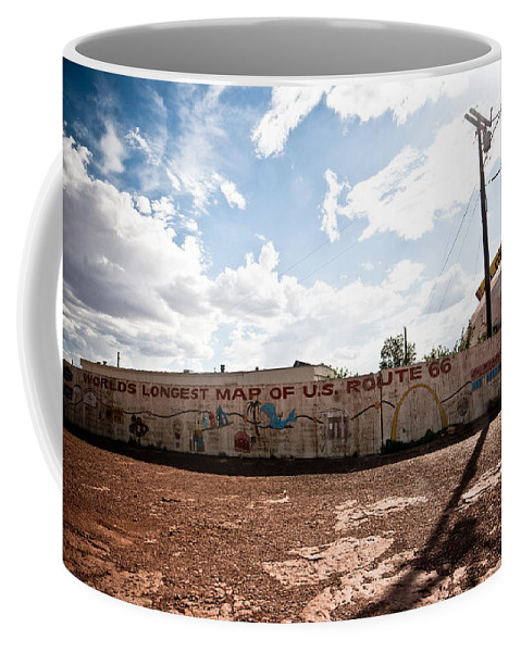 Route 66 Coffee Mug featuring the photograph World's Longest Map Of Route 66 by Robert J Caputo