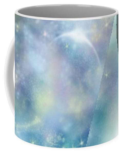 Comets Coffee Mug featuring the painting Wormhole by RC DeWinter