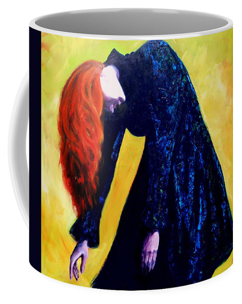 Acrylic Coffee Mug featuring the painting Wound Down by Jason Reinhardt