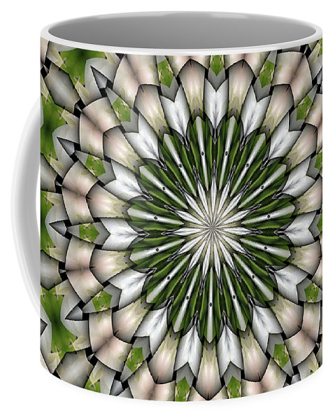 Abstract Coffee Mug featuring the digital art Woven Circle by Ron Bissett
