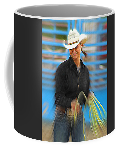 Cowgirl Coffee Mug featuring the photograph Wrangler by Rick Monyahan