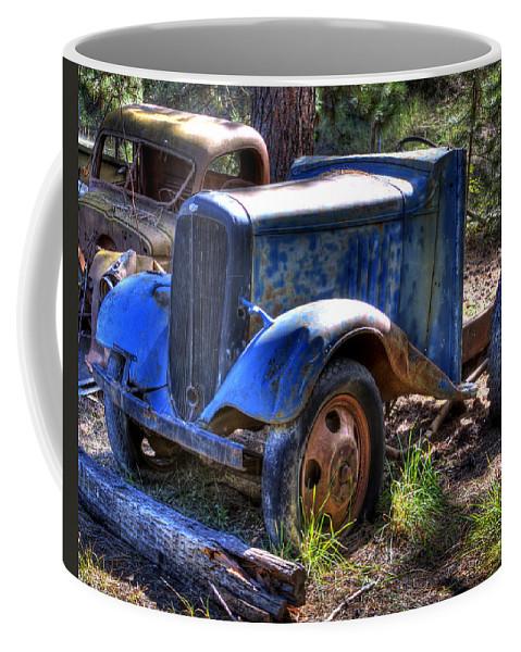 Automotive Coffee Mug featuring the photograph Wrecking Yard Study 15 by Lee Santa