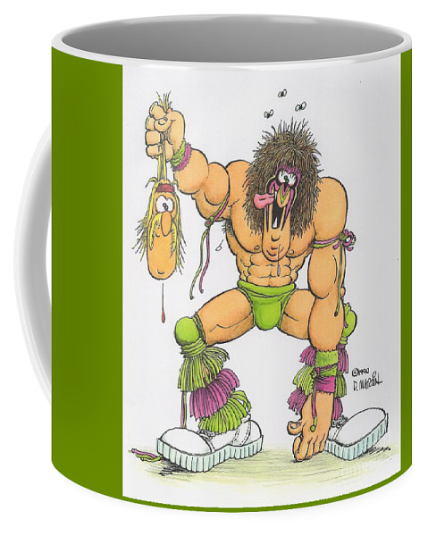 Don Martin Coffee Mug featuring the painting Wrestlemania by Don Martin