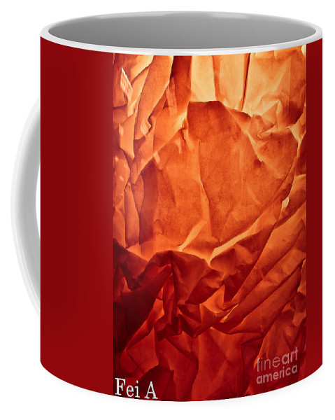 Abstract Coffee Mug featuring the photograph Wrinkled Passion by Fei A