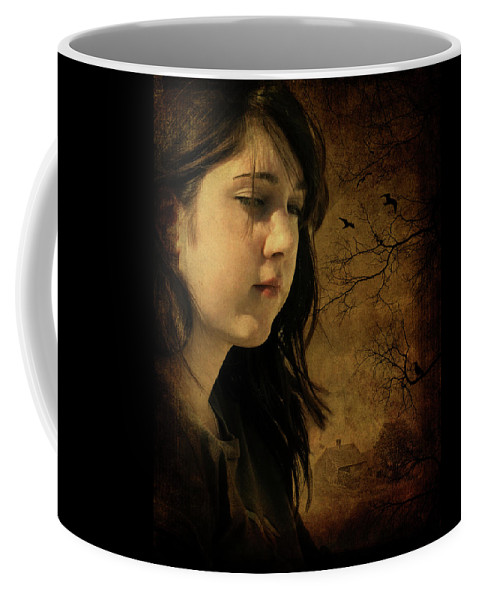 Girl Coffee Mug featuring the photograph Wuthering Hights by Rebecca Fourcher