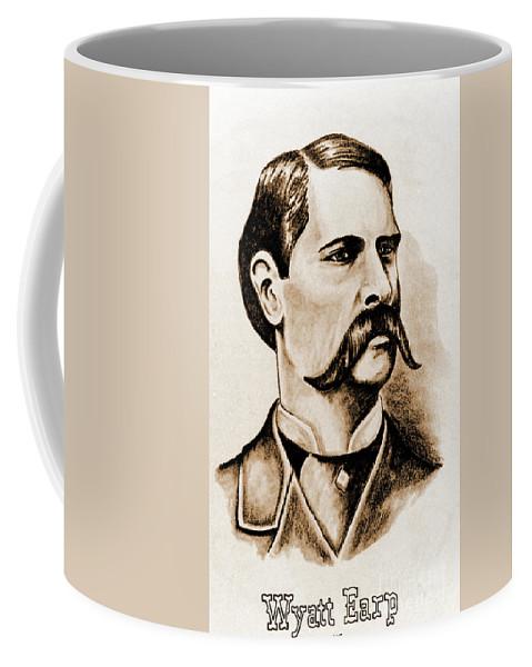 Gun Coffee Mug featuring the photograph Wyatt Earp by Gary Wonning