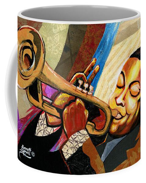 Everett Spruill Coffee Mug featuring the painting Wynton Marsalis by Everett Spruill