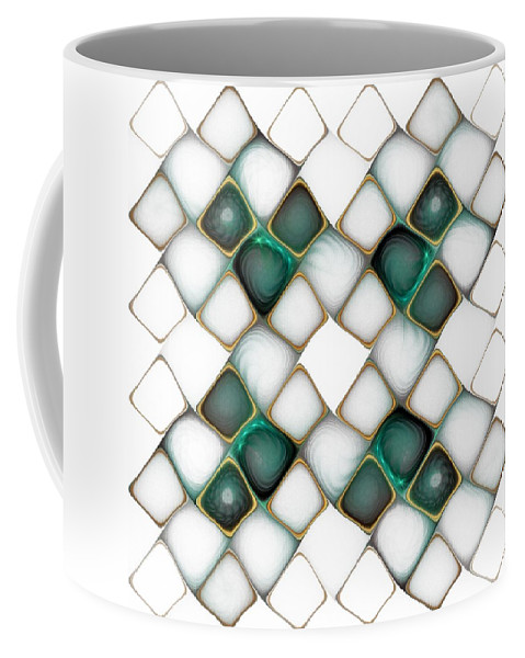 Digital Art Coffee Mug featuring the digital art X Marks The Spot by Amanda Moore