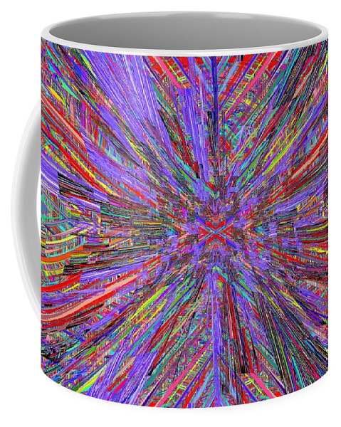 Abstract Coffee Mug featuring the digital art X Marks The Spot by Tim Allen