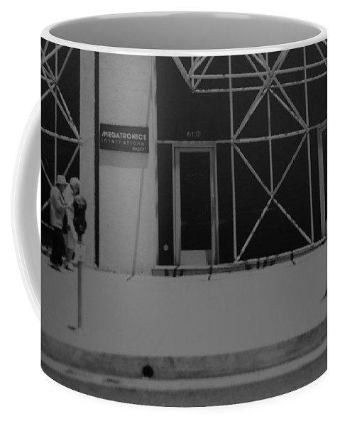 Black And White Coffee Mug featuring the photograph X by Rob Hans