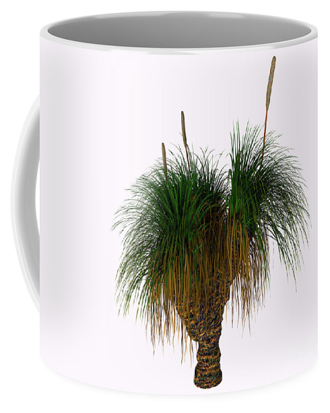 3d Illustration Coffee Mug featuring the painting Xanthorrhoea Australis Tree by Corey Ford