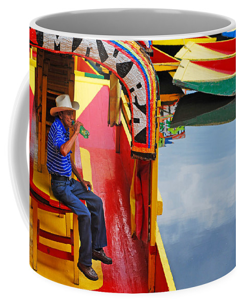 Skip Hunt Coffee Mug featuring the photograph Xochimilco by Skip Hunt