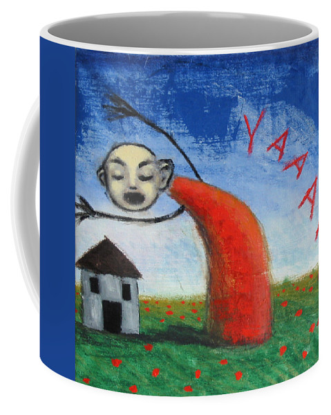 Figure Coffee Mug featuring the painting Yaaahhh by Pauline Lim