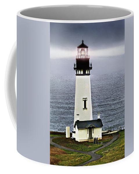 Lighthouse Coffee Mug featuring the photograph Yaquina Head Lighthouse by John Christopher
