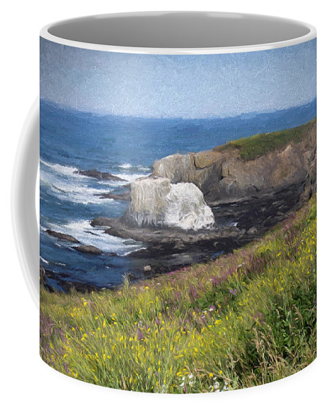 Hdr Coffee Mug featuring the photograph Yaquina Head by Thom Zehrfeld