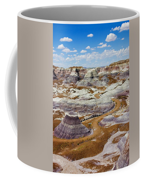 Painted Desert Coffee Mug featuring the photograph Yea Though I Walk by Skip Hunt