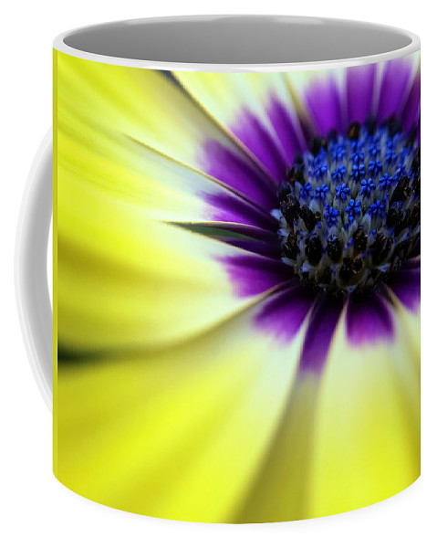 Spring Coffee Mug featuring the photograph Yellow Beauty With A Hint Of Blue And Purple by Eduard Moldoveanu
