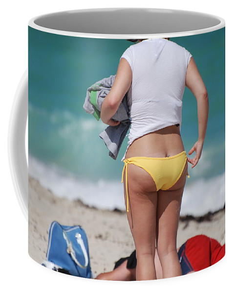 Sea Scape Coffee Mug featuring the photograph Yellow Bikini Bottom by Rob Hans