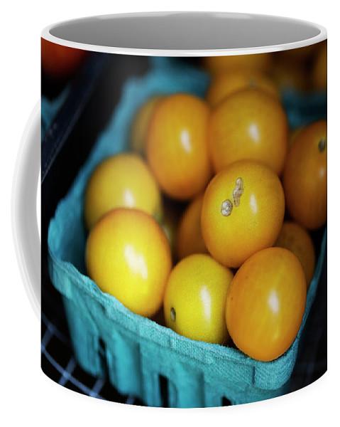 Tomato Coffee Mug featuring the photograph Yellow Cherry Tomatoes by Lori Rider