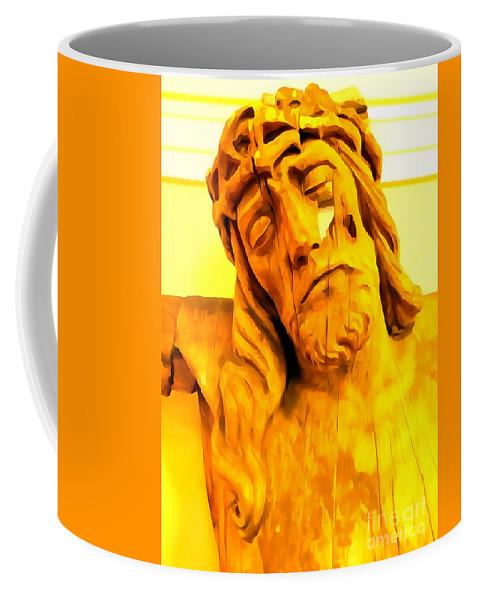 Digital Coffee Mug featuring the photograph Yellow Christ #1 by Ed Weidman