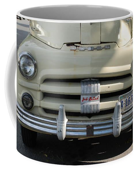 Truck Coffee Mug featuring the photograph Yellow Dodge by Rob Hans