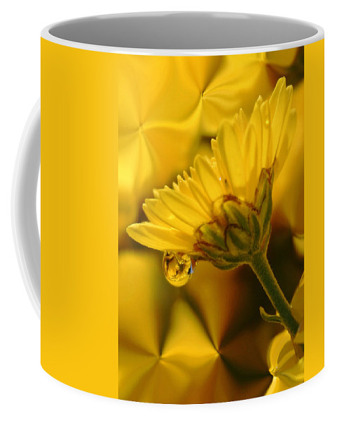 Flowers Coffee Mug featuring the photograph Yellow Drip by Linda Sannuti