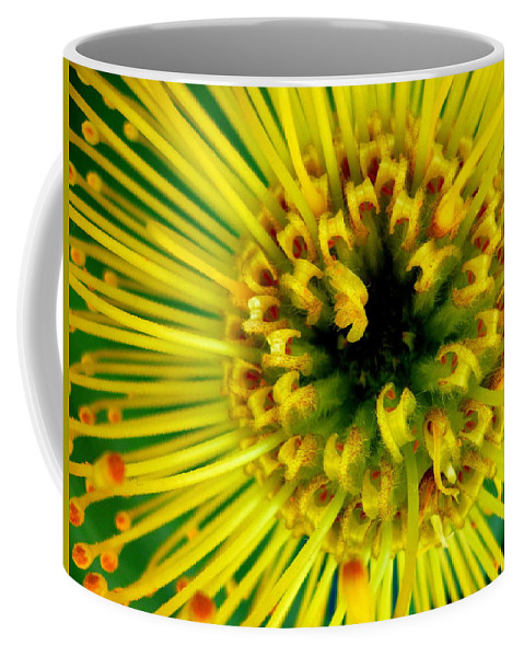 Flower Coffee Mug featuring the photograph Yellow Flower by Dianne Pettingell