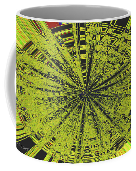 Yellow Green Black Abstract Coffee Mug featuring the photograph Yellow Green Black Abstract by Tom Janca