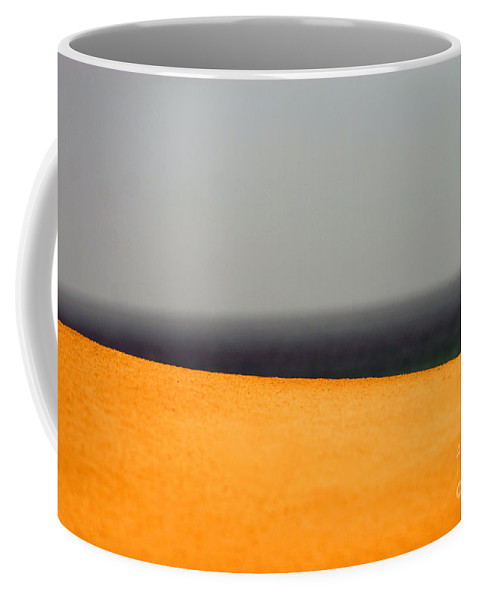 Yellow Coffee Mug featuring the photograph Yellow Horizon by Hana Shalom