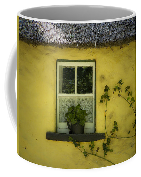 Irish Coffee Mug featuring the photograph Yellow House County Clare Ireland by Teresa Mucha
