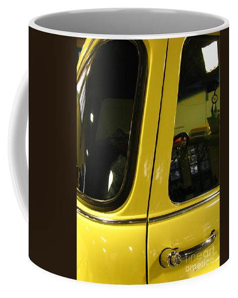 Yellow Mellow Coffee Mug featuring the photograph Yellow Lady Abstract by Peter Piatt