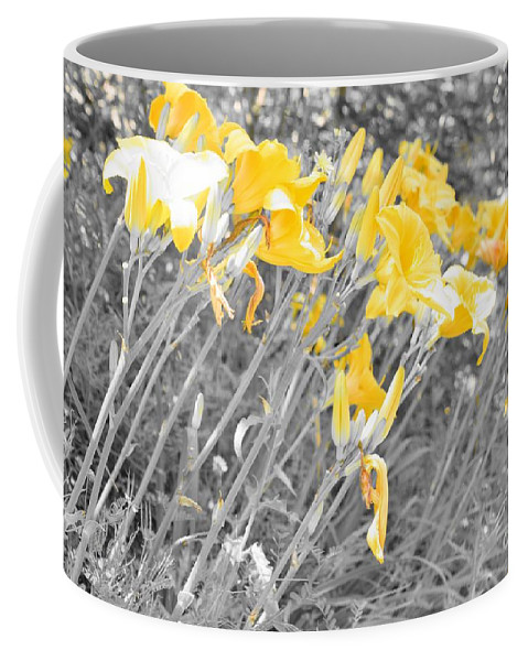 Yellow Coffee Mug featuring the photograph Yellow Moment In Time by Jennifer Craft