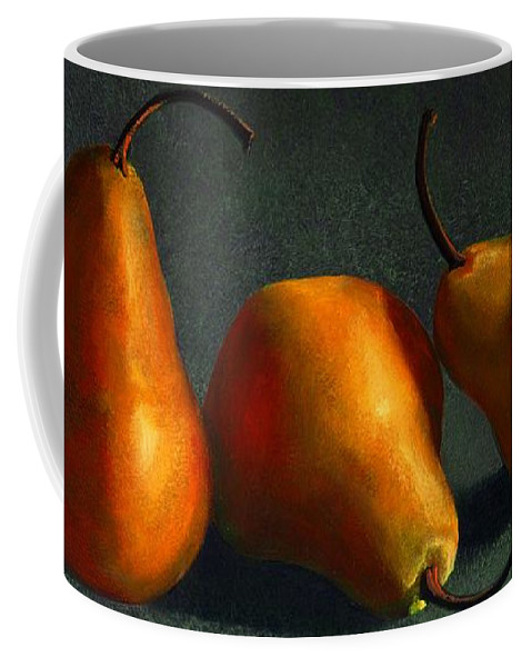Still Life Coffee Mug featuring the painting Yellow Pears by Frank Wilson