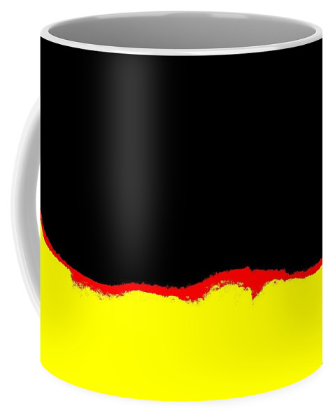 Yellow Red And Black Coffee Mug featuring the photograph Yellow Red And Black by Tim Townsend