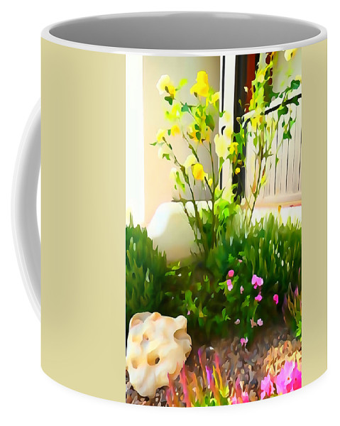 Bright Coffee Mug featuring the photograph Yellow Rose Bush by Greg Hammond