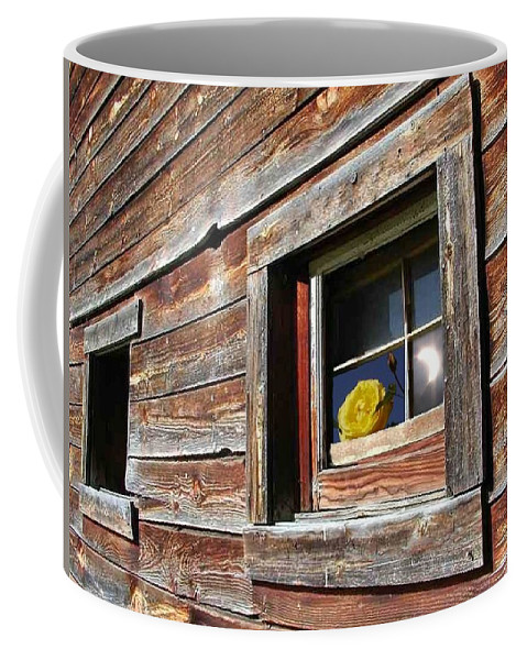 Barn Coffee Mug featuring the digital art Yellow Rose Eclipse by Tim Allen