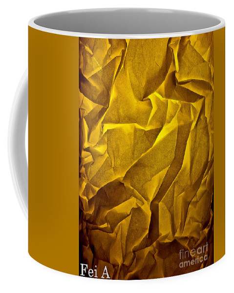 Abstract Coffee Mug featuring the photograph Yellow Sorrow by Fei A