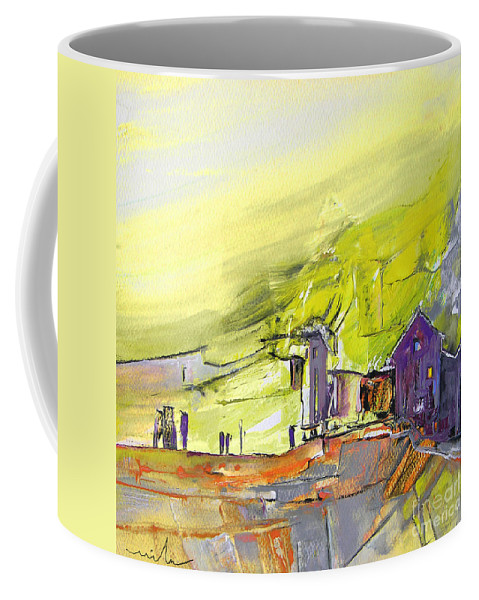Gouache Fantasy Coffee Mug featuring the painting Yellow Spleen by Miki De Goodaboom