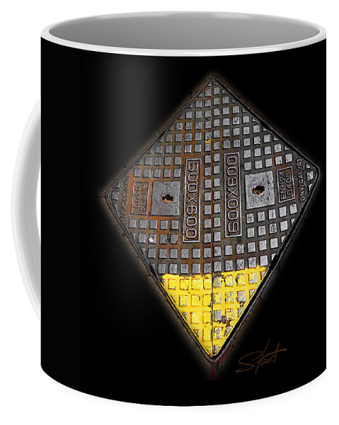 Diamond Coffee Mug featuring the photograph Yellow Tip by Charles Stuart
