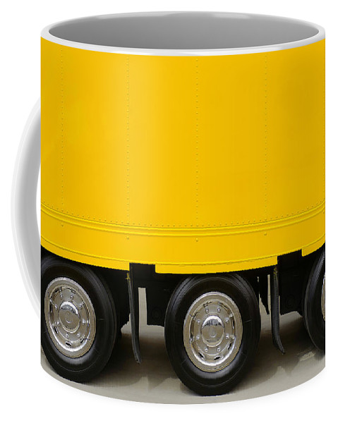 Advertising Coffee Mug featuring the photograph Yellow Truck by Carlos Caetano