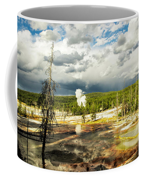 Yellowstone Coffee Mug featuring the photograph Yellowstone Colors #3 by Scott Read