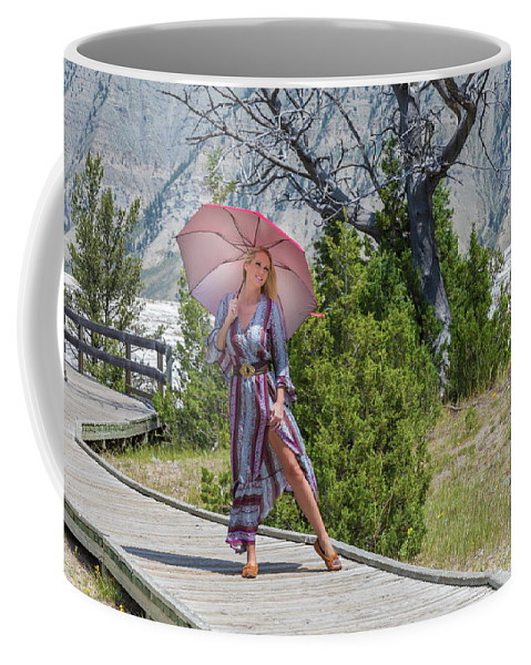 Darcy Lynn Coffee Mug featuring the photograph Yellowstone Darcy 1 by Allegory Imaging