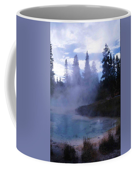 Yellowstone Coffee Mug featuring the photograph Yellowstone Haze by Nelson Strong