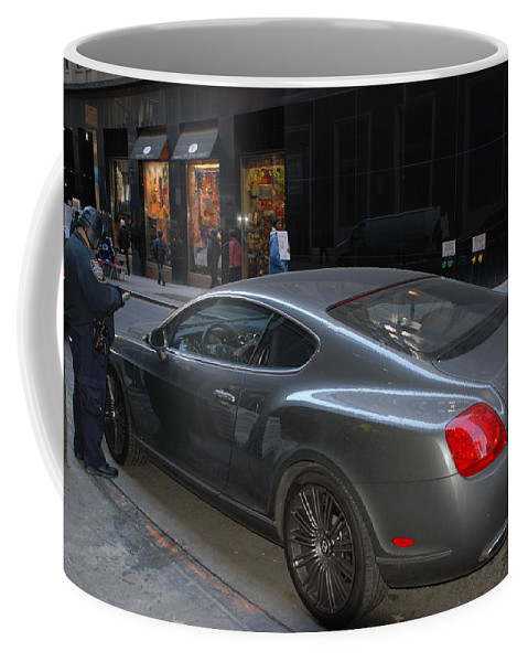 Police Coffee Mug featuring the photograph Yes  Write Him Up Cop by Rob Hans