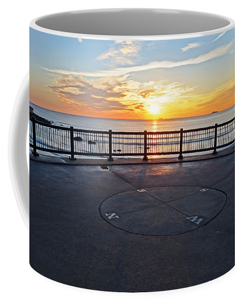 Lynn Coffee Mug featuring the photograph Yes, The Sun Rises To The East Red Rock Park Lynn Shore Drive by Toby McGuire