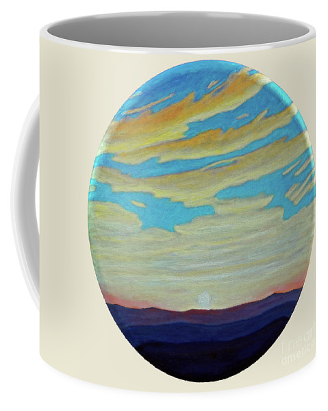 Landscape Coffee Mug featuring the painting Yesterday by Brian Commerford