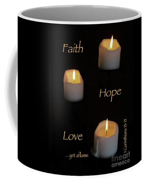 Candle Coffee Mug featuring the photograph Yet Aflame by Ann Horn