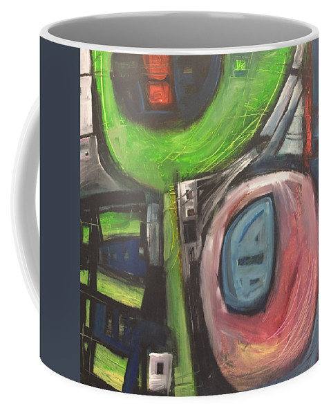 Abstract Coffee Mug featuring the painting YO by Tim Nyberg