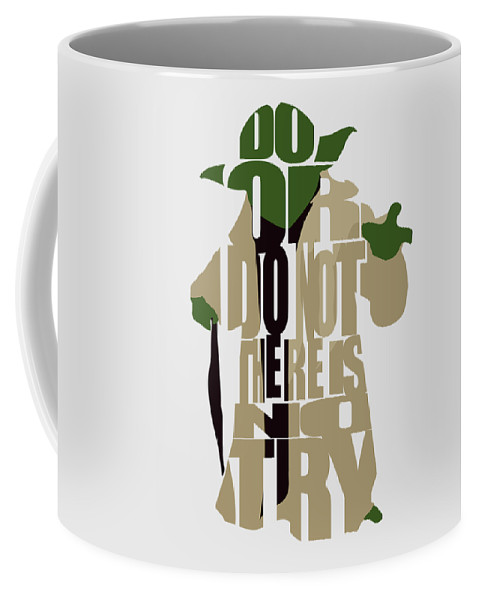 Yoda Coffee Mug featuring the digital art Yoda - Star Wars by Inspirowl Design
