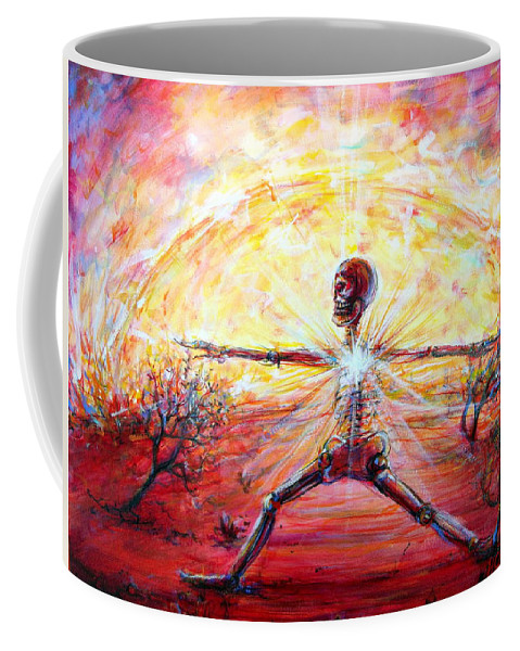 Yoga Coffee Mug featuring the painting Yoga Warrior by Heather Calderon